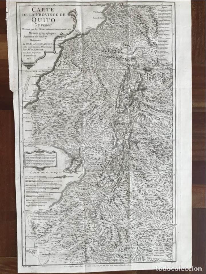 MAPA DE LA ANTIGUA PROVINCIA DE QUITO O PERÚ (ÁMERICA DEL SUR), CA. 1746. ANVILLE/PREVOST (Arte - Cartografía Antigua (hasta S. XIX))