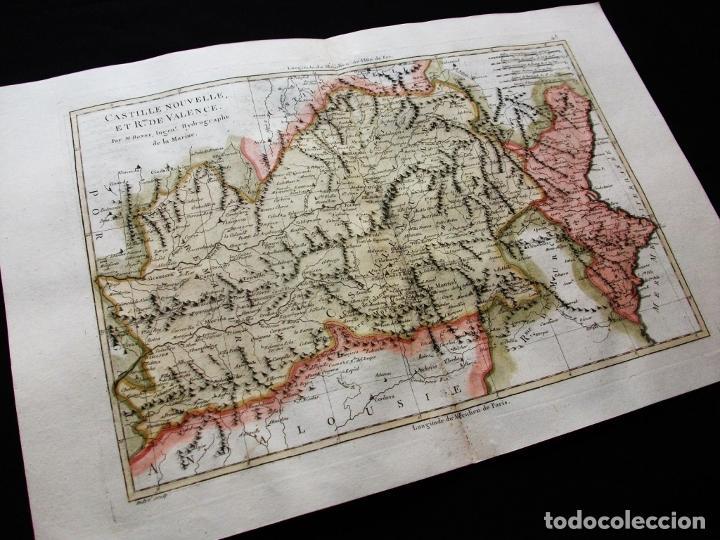 Arte: Mapa de Castilla, Madrid, Valencia, Alicante, 1787. Bonne/Desmarest/André - Foto 3 - 213323180