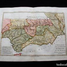 Arte: MAPA DE ANDALUCÍA Y MURCIA, 1787. BONNE/DESMAREST/ANDRÉ. Lote 213323630