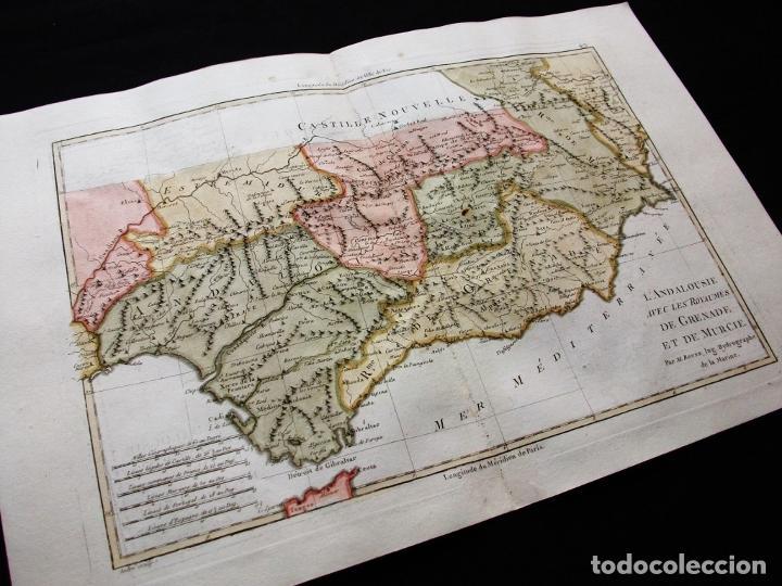 Arte: Mapa de Andalucía y Murcia, 1787. Bonne/desmarest/André - Foto 3 - 213323630