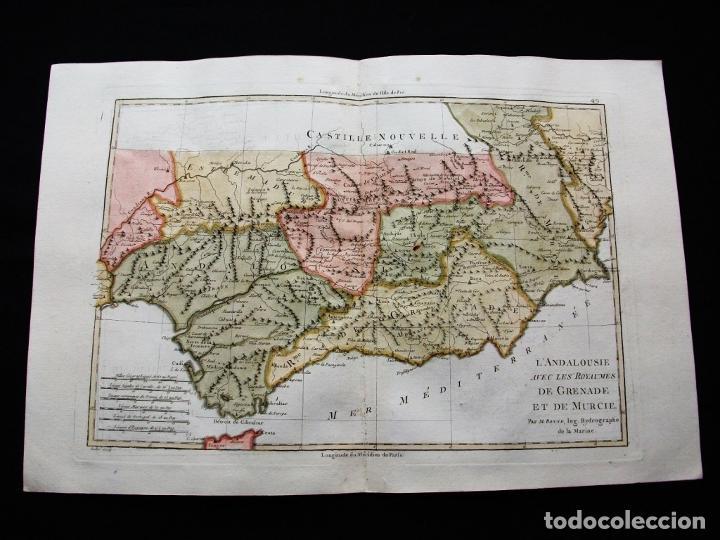 Arte: Mapa de Andalucía y Murcia, 1787. Bonne/desmarest/André - Foto 4 - 213323630