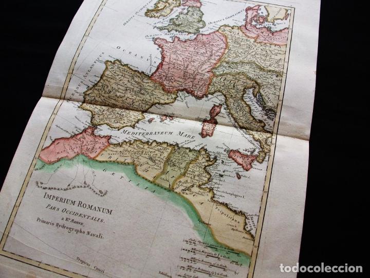 Arte: Mapa de la parte occidental del Imperio Romano, 1787. Bonne/Desmarest - Foto 3 - 213343958