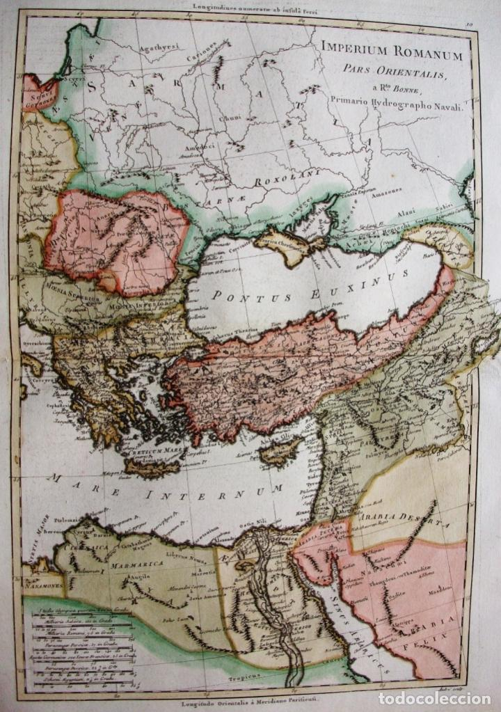 Arte: Mapa de la parte oriental del Imperio Romano, 1787. Bonne/Desmarest/André - Foto 2 - 213344785