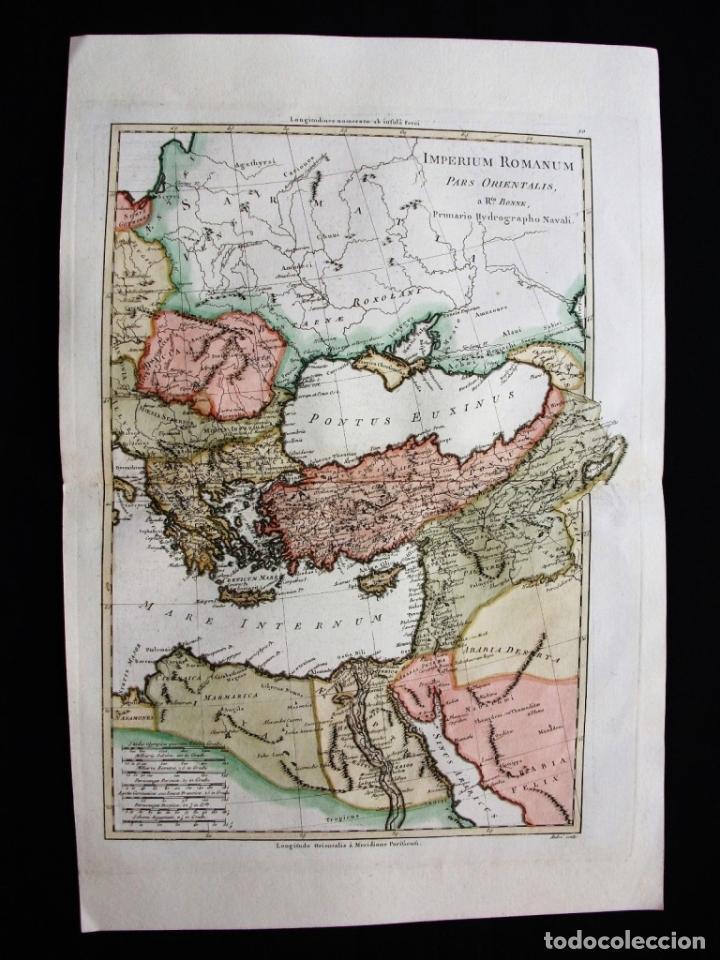 Arte: Mapa de la parte oriental del Imperio Romano, 1787. Bonne/Desmarest/André - Foto 4 - 213344785