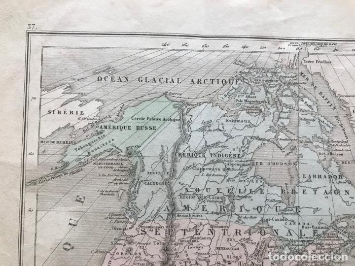 Arte: Mapa de América del norte, central y sur, 1873. Drioux/Leroy/Genotte/Brehier - Foto 4 - 213348231