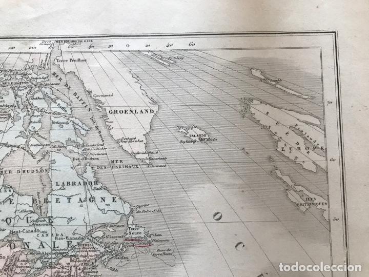 Arte: Mapa de América del norte, central y sur, 1873. Drioux/Leroy/Genotte/Brehier - Foto 5 - 213348231