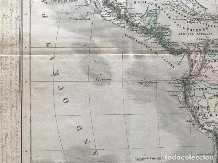 Arte: Mapa de América del norte, central y sur, 1873. Drioux/Leroy/Genotte/Brehier - Foto 9 - 213348231
