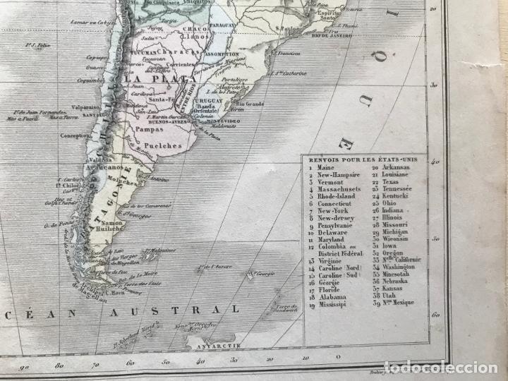 Arte: Mapa de América del norte, central y sur, 1873. Drioux/Leroy/Genotte/Brehier - Foto 10 - 213348231