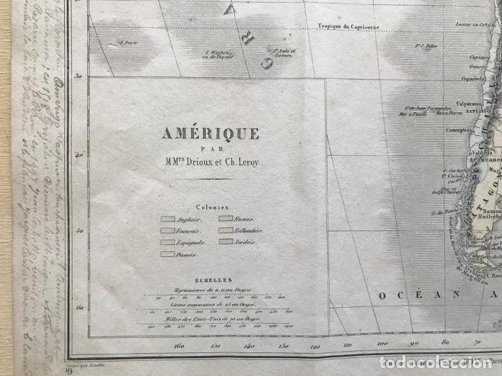 Arte: Mapa de América del norte, central y sur, 1873. Drioux/Leroy/Genotte/Brehier - Foto 11 - 213348231