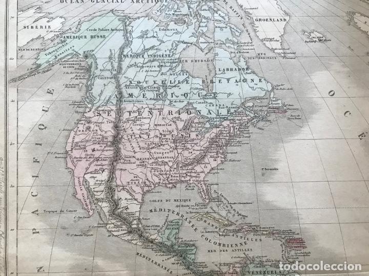 Arte: Mapa de América del norte, central y sur, 1873. Drioux/Leroy/Genotte/Brehier - Foto 12 - 213348231