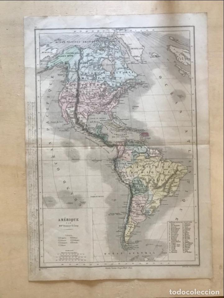 Arte: Mapa de América del norte, central y sur, 1873. Drioux/Leroy/Genotte/Brehier - Foto 16 - 213348231