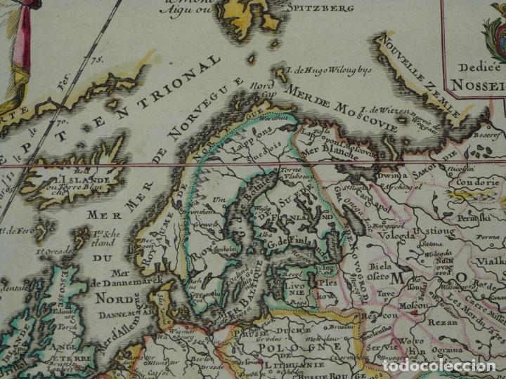 Arte: Mapa a color de Europa, 1700. Nicolás de Fer - Foto 3 - 213349170