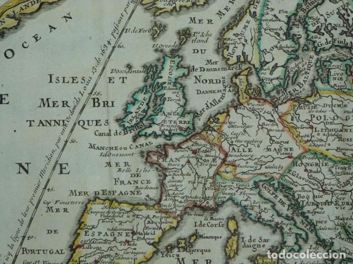 Arte: Mapa a color de Europa, 1700. Nicolás de Fer - Foto 4 - 213349170