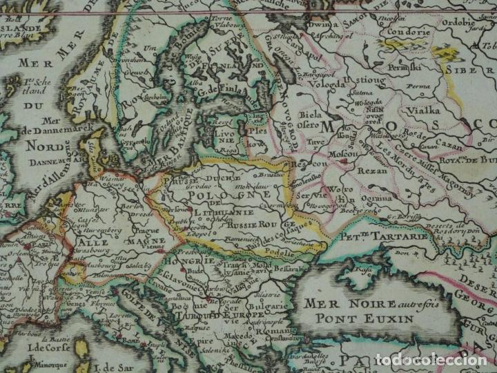 Arte: Mapa a color de Europa, 1700. Nicolás de Fer - Foto 5 - 213349170