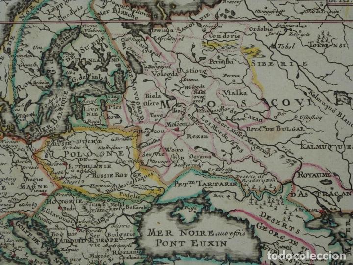 Arte: Mapa a color de Europa, 1700. Nicolás de Fer - Foto 6 - 213349170