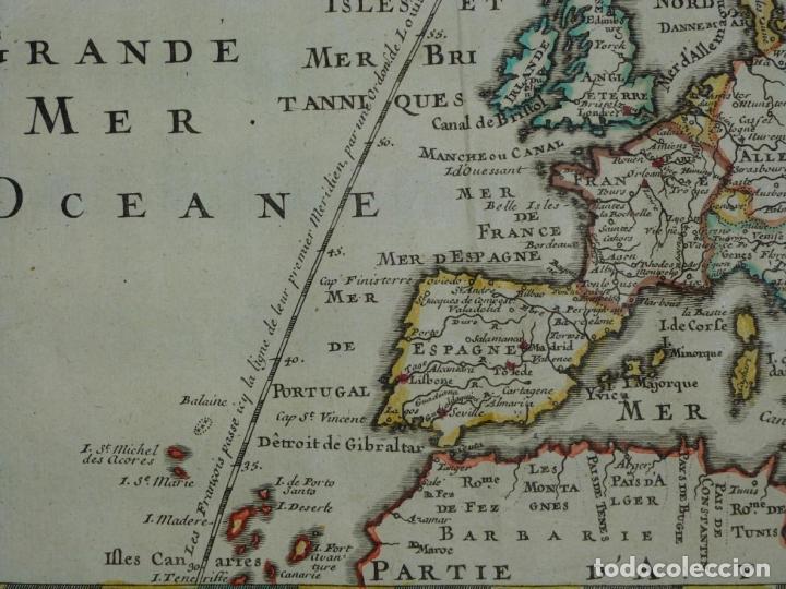 Arte: Mapa a color de Europa, 1700. Nicolás de Fer - Foto 7 - 213349170