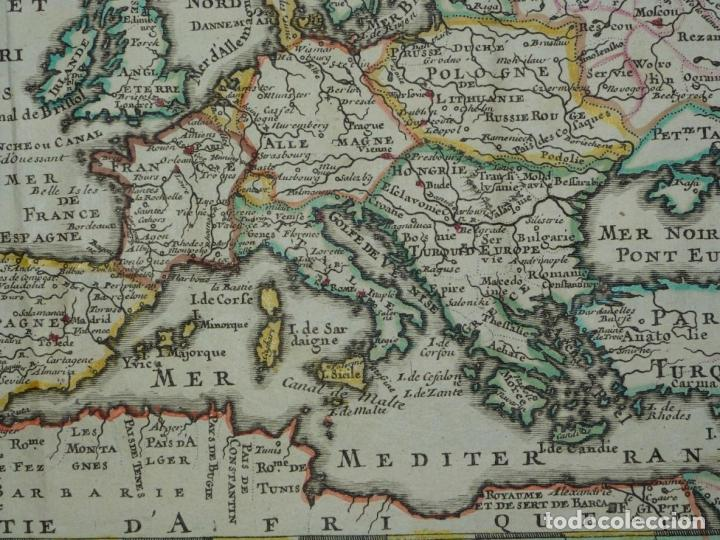 Arte: Mapa a color de Europa, 1700. Nicolás de Fer - Foto 8 - 213349170