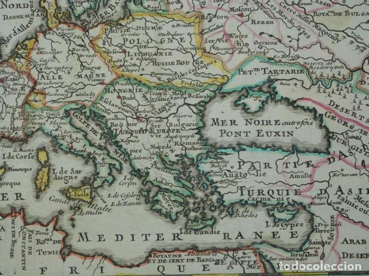 Arte: Mapa a color de Europa, 1700. Nicolás de Fer - Foto 9 - 213349170
