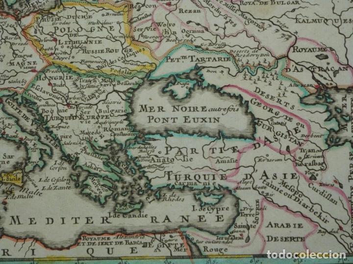 Arte: Mapa a color de Europa, 1700. Nicolás de Fer - Foto 10 - 213349170