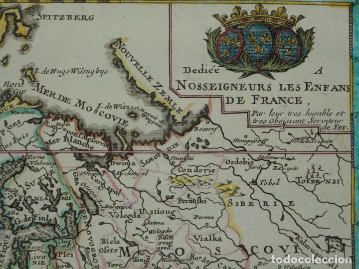 Arte: Mapa a color de Europa, 1700. Nicolás de Fer - Foto 11 - 213349170