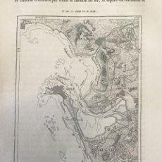Arte: GRABADO ANTIGUO ORIGINAL. MAPA / PLANO CADIZ SAN FERNANDO (ESPAÑA). AÑO 1876. Lote 213359068