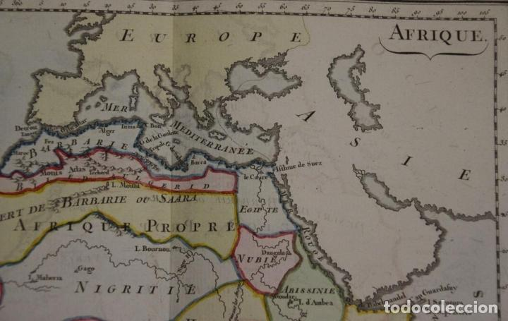 Arte: Mapa a color de África, 1786. Brion de La Tour/Desnos - Foto 3 - 213387167