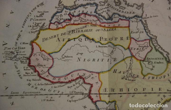 Arte: Mapa a color de África, 1786. Brion de La Tour/Desnos - Foto 4 - 213387167