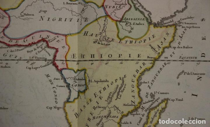 Arte: Mapa a color de África, 1786. Brion de La Tour/Desnos - Foto 5 - 213387167