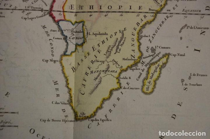 Arte: Mapa a color de África, 1786. Brion de La Tour/Desnos - Foto 6 - 213387167