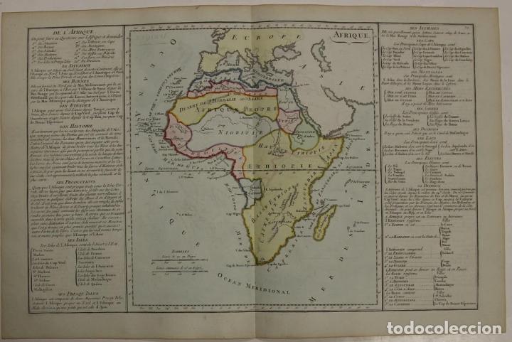 MAPA A COLOR DE ÁFRICA, 1786. BRION DE LA TOUR/DESNOS (Arte - Cartografía Antigua (hasta S. XIX))