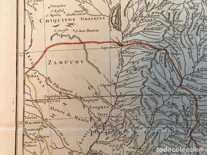 Arte: Gran mapa de sur de Brasil, Paraguay y Uruguay, 1782. Bonne/Lattre - Foto 5 - 213388942