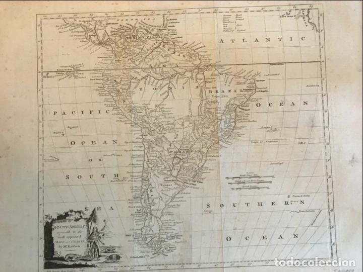 Arte: Mapa de América del Sur, 1778. Kitchin/Moore - Foto 3 - 213391341