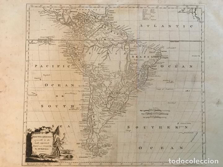 Arte: Mapa de América del Sur, 1778. Kitchin/Moore - Foto 13 - 213391341