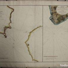 Arte: GRAN CARTA NÁUTICA DE LAS ISLAS DE FAIAL, PICO Y TERCEIRA (AZORES, PORTUGAL), 1788. VICENTE TOFIÑO. Lote 213567143