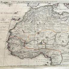 Arte: GRAN MAPA DE ÁFRICA OCCIDENTAL E ISLAS CANARIAS Y AZORES, 1707. DELISLE/COVENS Y MORTIER. Lote 213575653