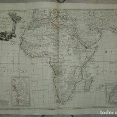 Arte: GRAN MAPA DE ÁFRICA, 1784. JANVIER/ANVILLE/SANTINI/REMONDINI. Lote 213578570
