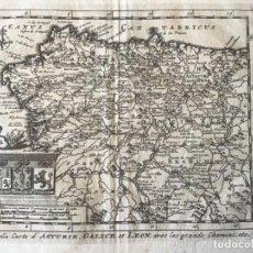 Arte: GRABADO ANTIGUO. MAPA ASTURIAS, GALICIA Y LEON (ESPAÑA) VAN DER AA DELICES ESPAGNE.AÑO 1715. Lote 213610563