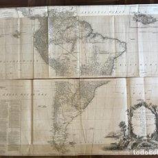 Arte: GRAN MAPA DE AMÉRICA DEL SUR (2 HOJAS), 1775. ANVILLE/ROBERT SAYER. Lote 213654863