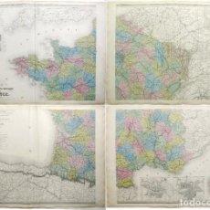 Arte: GRAN MAPA DE FRANCIA (4 HOJAS), HACIA 1870. AUGUSTE-HENRI DUFOUR/DYONNET/PILON. Lote 213658430