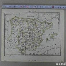 Arte: MAPA DE ESPAÑA Y PORTUGAL, 1843. BROCKAHAUS/ANÓNIMO. Lote 213769855