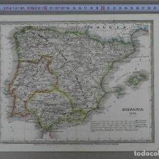 Arte: MAPA DE ESPAÑA Y PORTUGAL EN ÉPOCA ROMANA (HISPANIA), 1846. RENNER. Lote 213773931