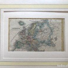 Arte: MAPA PEQUEÑO DE EUROPA, HACIA 1850. TERRAIN/METZEROTH. Lote 213866358