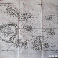 Arte: MAPA DE LAS ISLAS DE CABO VERDE (ÁFRICA OCCIDENTAL), 1746. BELLIN. Lote 214004178