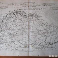 Arte: MAPA DE COLOMBIA, VENEZUELA, BRASIL,...1787. BONNE. Lote 214006685