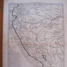 Arte: MAPA DE PERÚ, ECUADOR Y BOLIVIA AMÉRICA DEL SUR), 1780. BONNE / RAYNAL. Lote 214007162