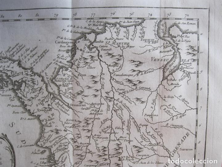 Arte: Mapa de Panamá, Colombia y Venezuela, 1756. Bellin / Anville/ Prevost/Didot - Foto 3 - 214007330