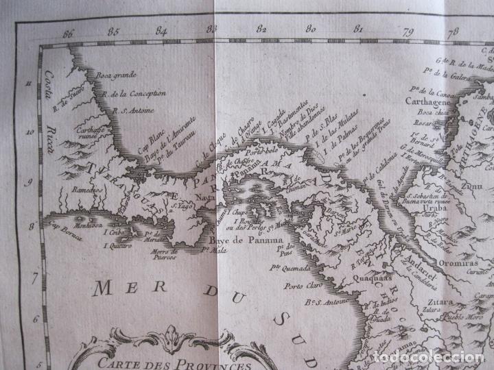 Arte: Mapa de Panamá, Colombia y Venezuela, 1756. Bellin / Anville/ Prevost/Didot - Foto 5 - 214007330
