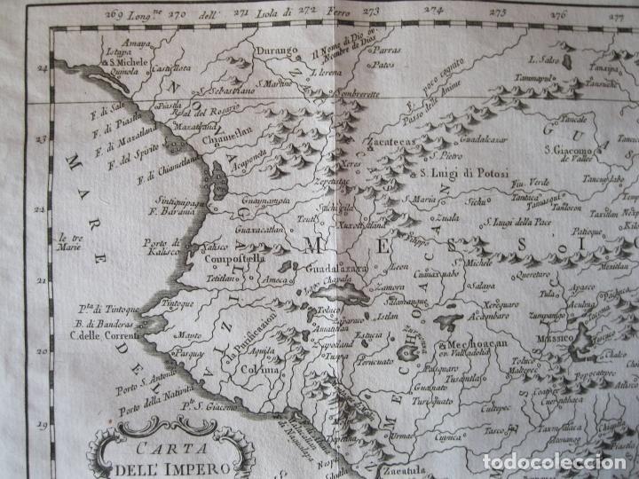 Arte: Mapa de México (Edición Italiana), 1785. Bellin/Prevost - Foto 6 - 214017458