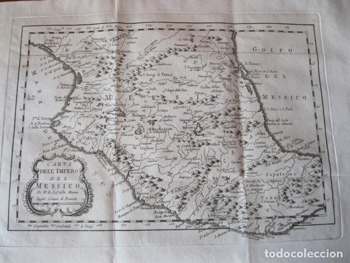 MAPA DE MÉXICO (EDICIÓN ITALIANA), 1785. BELLIN/PREVOST (Arte - Cartografía Antigua (hasta S. XIX))