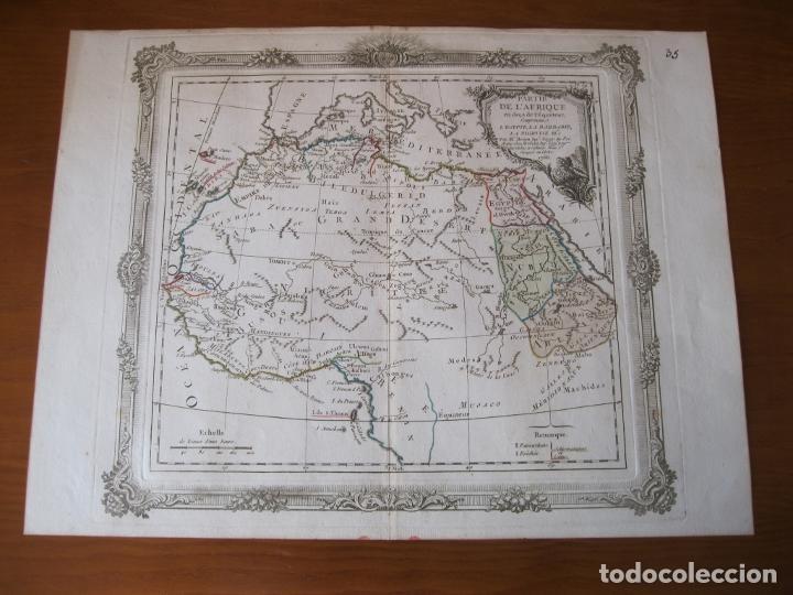 Arte: Mapa del norte y centro de África, 1766. Brion de la Tour /Desnos - Foto 2 - 214017981